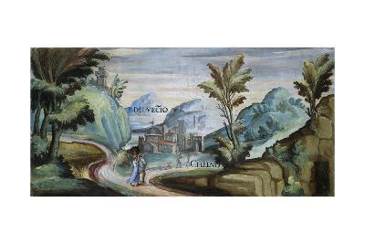 View of Celleno, 1592-Tarquinio Ligustri-Giclee Print