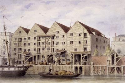 View of Chamberlain's Wharf, Tooley Street, Bermondsey, London, 1846-Thomas Hosmer Shepherd-Giclee Print