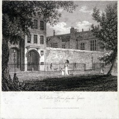 View of Charterhouse from the Square with Figures, Finsbury, London, 1804-John Greig-Giclee Print
