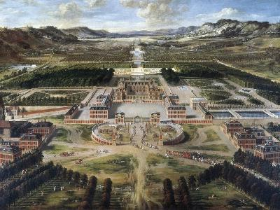 View of Chateau and Gardens of Versailles, Taken from Paris Avenue-Pierre Patel-Art Print