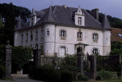 View of Chateau De Fief D'Herambault, 1845, Montcavrel, Nord-Pas De Calais, France--Giclee Print