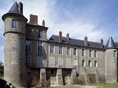 View of Chateau De La Motte Nangis, Nangis, Ile-De-France, France--Giclee Print