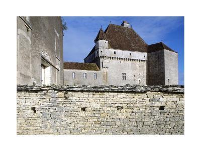 View of Chateau De Rosieres, Near Saint-Seine-Sur-Vingeanne, Burgundy, France, 14th-15th Century--Giclee Print