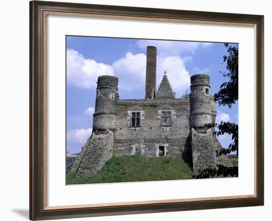 View of Chateau Du Plessis-Mace, Pays De La Loire, France, 12th Century--Framed Giclee Print
