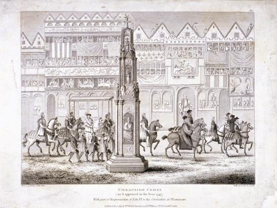 View of Cheapside Cross, London, 1809--Giclee Print