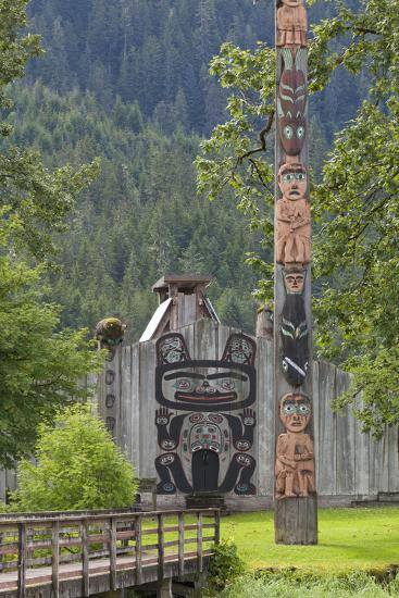 View of Chief Shakes Tribal House, Wrangell, Alaska, USA-Jaynes Gallery-Photographic Print