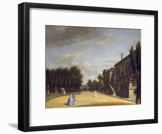 View of Chiswick Villa from the Back to the Inigo Jones Gate, 1742-George Lambert-Framed Giclee Print