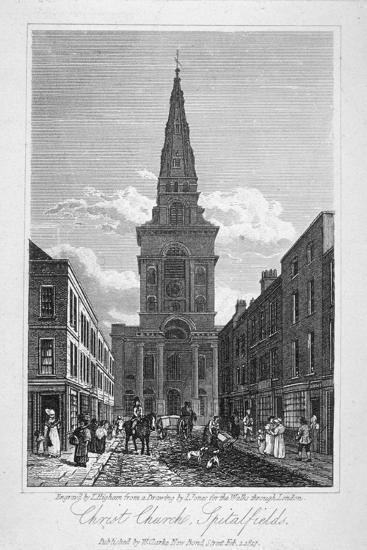 View of Christ Church, Spitalfields, London, 1817-Thomas Higham-Giclee Print
