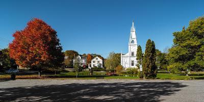 View of church in town, Bath, Sagadahoc County, Maine, USA--Photographic Print