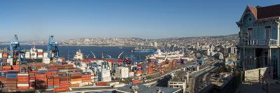 View of City and Ports from Paseo 21 De Mayo, Cerro Playa Ancha, Valparaiso-Ben Pipe-Photographic Print
