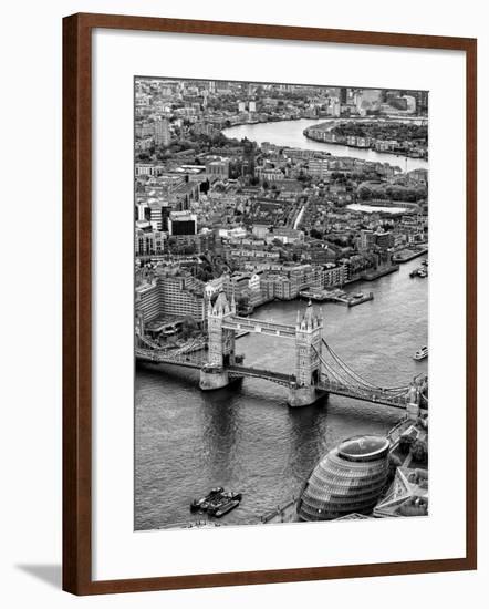 View of City of London with Tower Bridge - London - UK - England - United Kingdom - Europe-Philippe Hugonnard-Framed Photographic Print