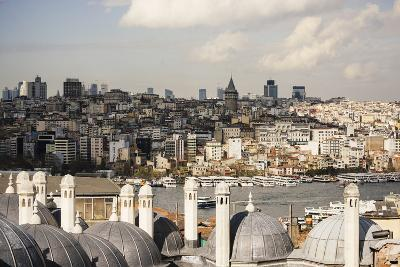 View of City Skyline from Suleymaniye Mosque, Istanbul, Turkey-Ben Pipe-Photographic Print