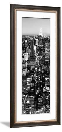 View of City, Vertical Panoramic Landscape View by Night, Midtown Manhattan, Manhattan, NYC, USA-Philippe Hugonnard-Framed Photographic Print