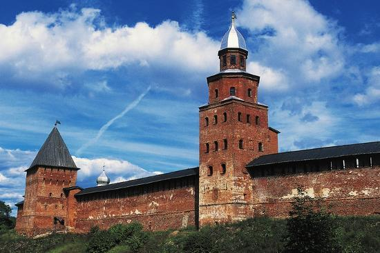 View of City Wall with Kokuj Tower--Giclee Print