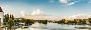 View of Cityscape of Prague from a Bridge on Vltava River