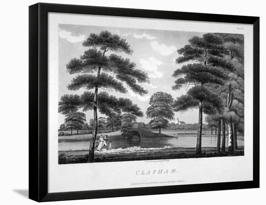 View of Clapham, London, 1792-William Ellis-Framed Stretched Canvas Print