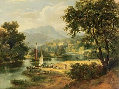 View of Clappersgate on the River Brathay Above Windermere-Ramsay Richard Reinagle-Giclee Print