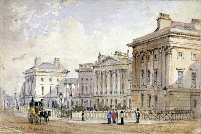 View of Clarence Terrace in Regent's Park, London, 1827-George Shepherd-Giclee Print