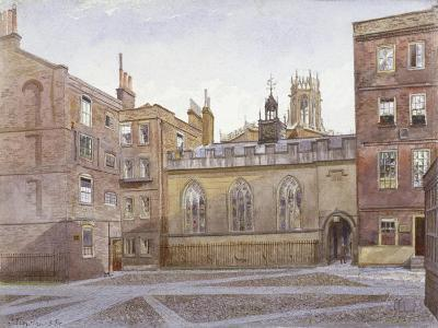 View of Clifford's Inn and Hall, London, 1884-John Crowther-Giclee Print