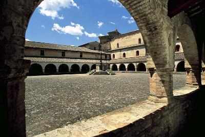 View of Cloister Courtyard, Chiaravalle Abbey, Fiastra, Tolentino, Marche, Italy--Giclee Print