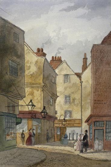 View of Cloth Fair and Middle Street, West Smithfield, City of London, 1867-EH Dixon-Giclee Print