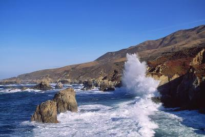 View of Coastline between Point Lobos State Reserve and Point Sur, Big Sur, California, USA-Massimo Borchi-Photographic Print