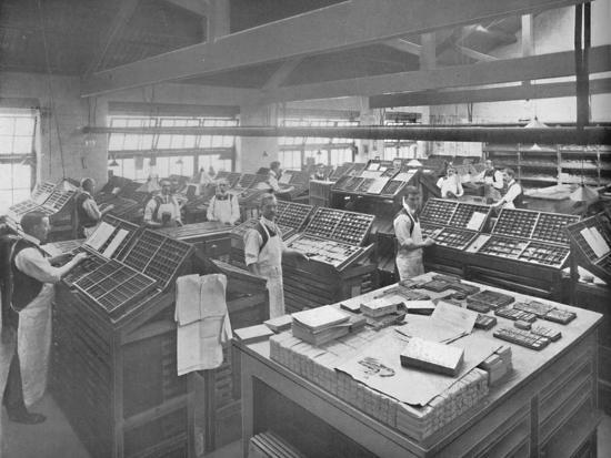'View of Composing Room', 1919-Unknown-Photographic Print
