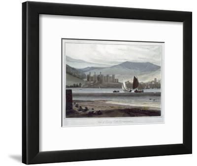 'View of Conway Castle, Caernarvonshire', Wales, 1814-1825-William Daniell-Framed Giclee Print