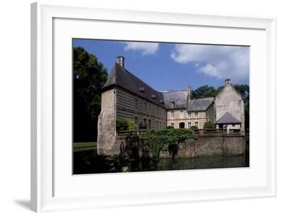 View of Courtyard of Chateau De Creminil, Estree-Blanche, Nord-Pas De Calais, France--Framed Giclee Print