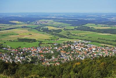 View of Denkingen and Baar from Dreifaltigkeitsberg, Baden-Wurttemberg, Germany, Europe-Jochen Schlenker-Photographic Print