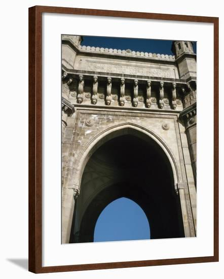 View of Detail of Arched Palace Entrance in Bombay, India--Framed Photographic Print