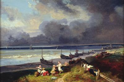 View of Dieppe-Louis Eugene Gabriel Isabey-Giclee Print