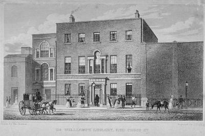 View of Dr Williams's Library in Redcross Street, City of London, 1829-J Starling-Giclee Print
