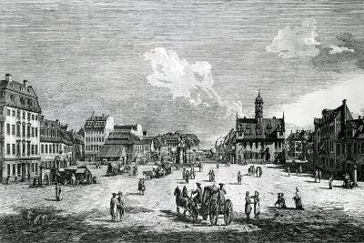 View of Dresden-Bernardo Belotto Canaletto-Giclee Print