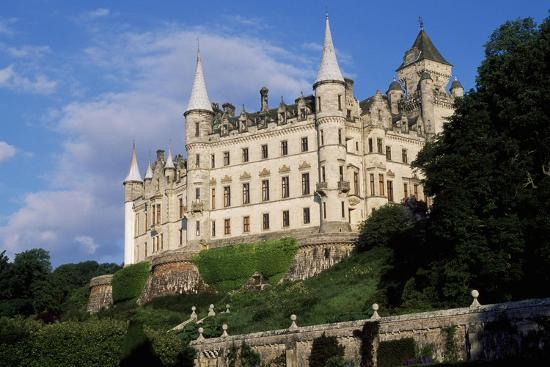 View of Dunrobin Castle from Gardens, Near Golspie, Sutherland, Scotland, 14th-19th Century--Giclee Print