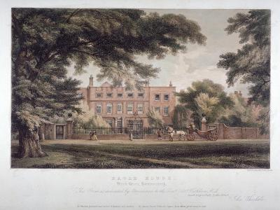 View of Eagle House, Brook Green, Hammersmith, London, C1810-Day & Haghe-Giclee Print