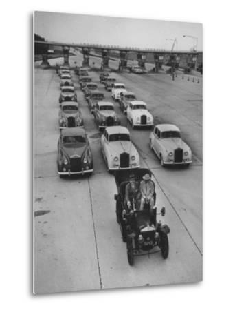View of Early Models of Rolls Royce Cars