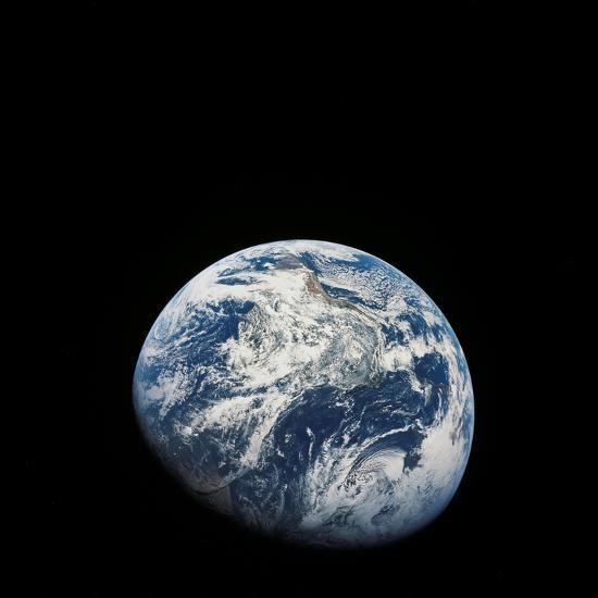 View of Earth Taken from the Aollo 8 Spacecraft-Stocktrek Images-Photographic Print