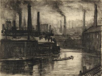 View of East London-Joseph Pennell-Giclee Print