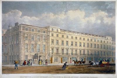 View of Eight Houses in Brook Street, Westminster, London, C1840-George Hawkins-Giclee Print