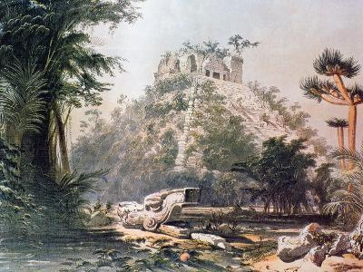 View of El Castillo, 1844-Frederick Catherwood-Giclee Print