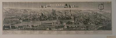 View of Florence (Engraving)-Friedrich Bernhard Werner-Giclee Print