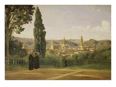 View of Florence from the Boboli Gardens, about 1835/40-Jean-Baptiste-Camille Corot-Giclee Print