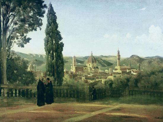 View of Florence from the Boboli Gardens-Jean-Baptiste-Camille Corot-Art Print