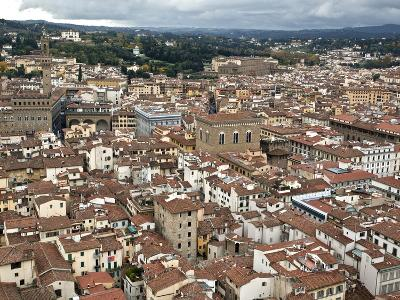 View of Florence from the Dome of Filippo Brunelleschi, Florence, UNESCO World Heritage Site, Tusca-Godong-Photographic Print