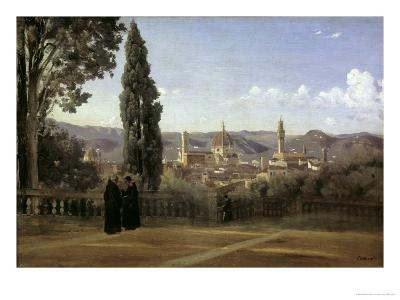 View of Florence-Jean-Baptiste-Camille Corot-Giclee Print