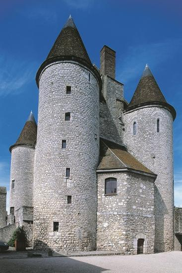 View of Fortified Chateau De Nemours, Ile-De-France, France, 12th Century--Giclee Print