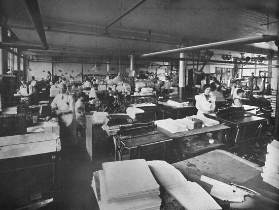 'View of Forwarding and Binding Room', 1919-Unknown-Photographic Print