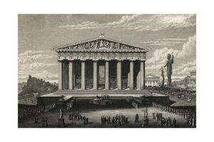 View of Front of Parthenon