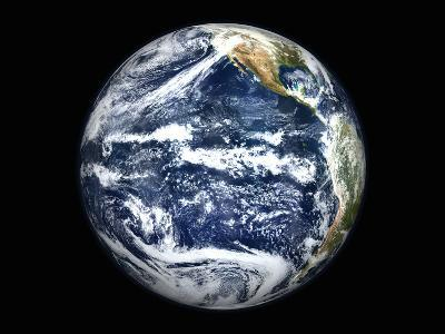 View of Full Earth Centered Over the Pacific Ocean-Stocktrek Images-Photographic Print